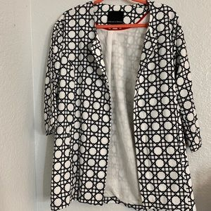 Abstract White and Black Blazer